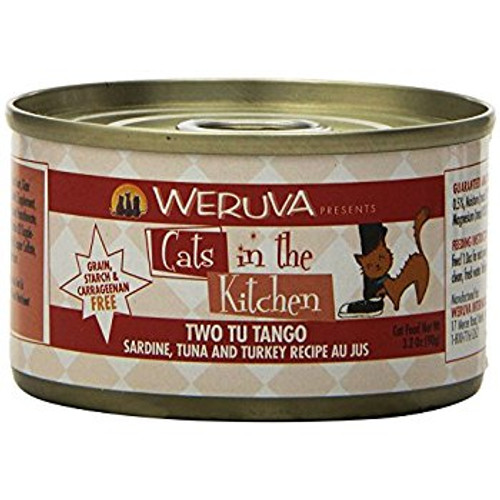 Weruva Cats in the Kitchen Two Tu Tango Sardine, Tuna & Turkey 3oz