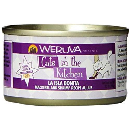 Weruva Cats in the Kitchen La Isla Bonita Mackerel & Shrimp 3oz
