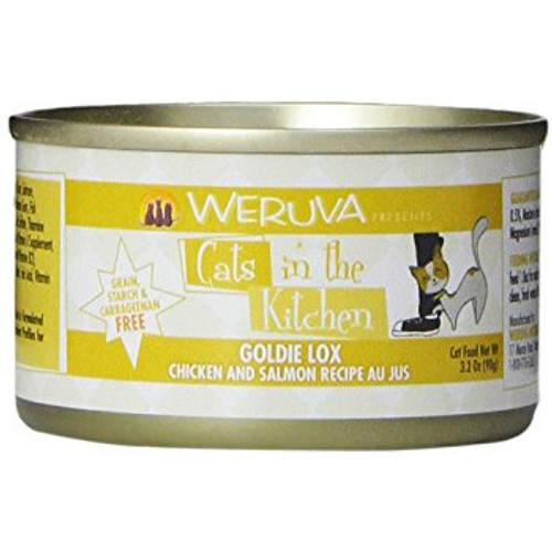 Weruva Cats in the Kitchen Goldie Lox Chicken & Salmon in Au Jus