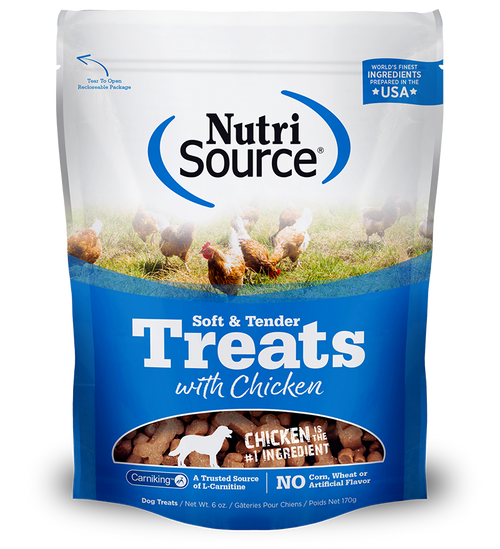 NutriSource Soft & Tender Chicken Treats 6oz