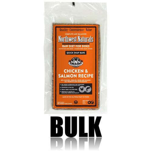 Northwest Naturals Frozen Raw Dog Food Chicken & Salmon Recipe Bulk Bars 25lb