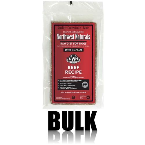 Northwest Naturals Frozen Raw Dog Food Beef Recipe Bulk Bars 25lb