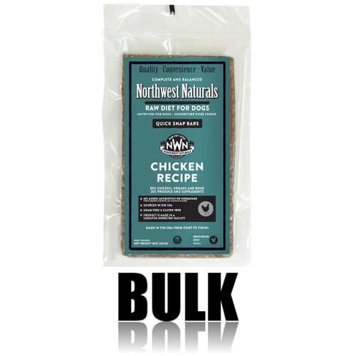 Northwest Naturals Frozen Raw Dog Food Chicken Bulk Bars 25lb