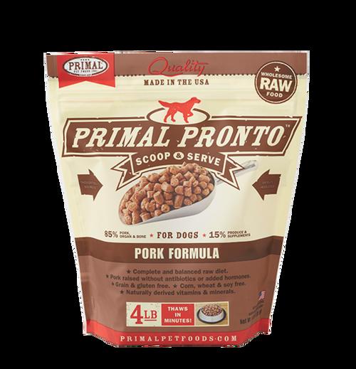 Primal Raw Frozen Dog Pork Formula Pronto 4lb