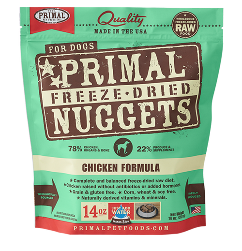 Primal Chicken Recipe Freeze Dried Dog Food 14oz