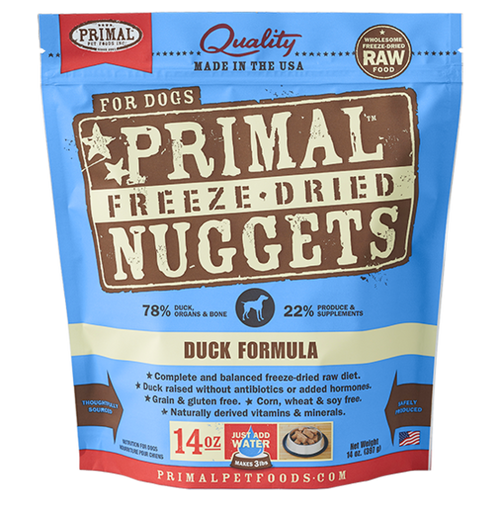 Primal Duck Recipe Freeze Dried Dog Food 14oz