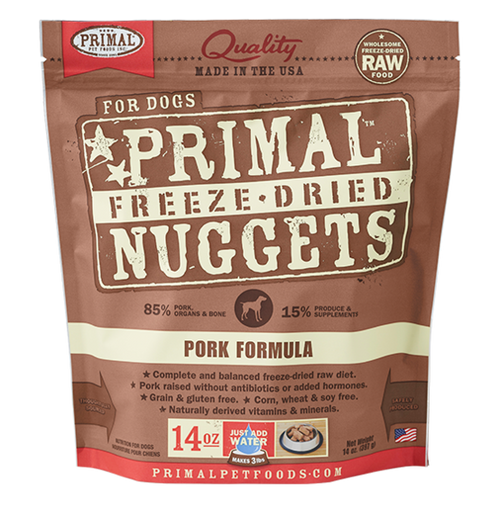 Primal Pork Recipe Freeze Dried Dog Food 14oz