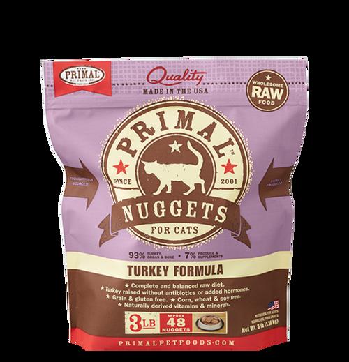 Primal Raw Frozen Feline Turkey Formula Nuggets 3lb