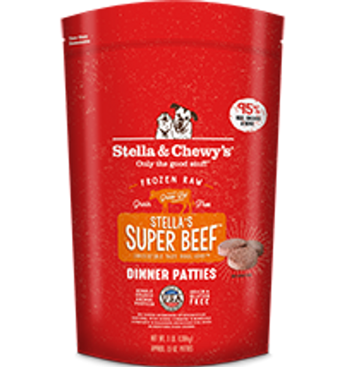 Stella & Chewy's Super Beef Canine Dinner Patties 6lb
