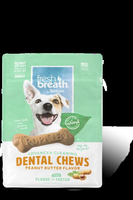 Tropiclean-Advanced Cleaning Dental Chews Peanut Butter Flavor