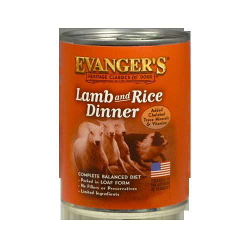 Evanger's Lamb & Rice Classic Recipe