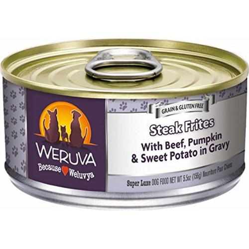 Weruva Steak Frites With Beef, Pumpkin & Sweet Potato in Gravy