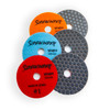 "Sidewinder DRY Venom Step Diamond Polishing Pads 4"" velcro"