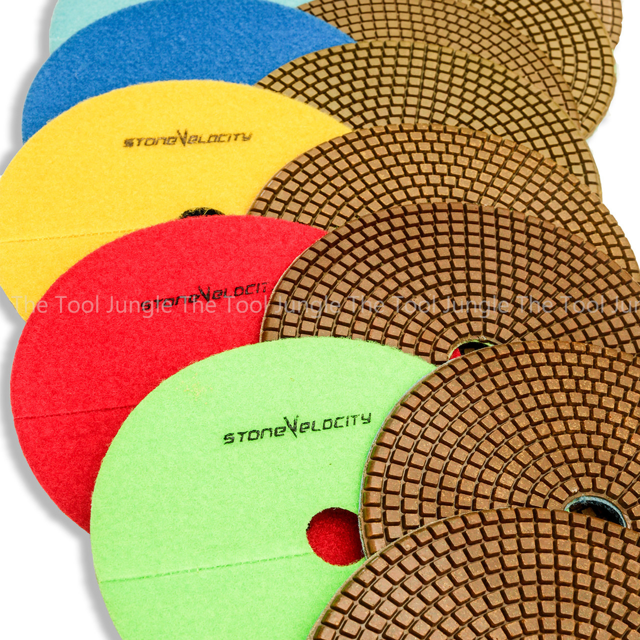 7 Inch Diamond Polishing Pads 11 Piece Set WET//DRY Granite Concrete Stone Marble