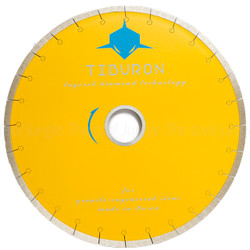 Yellow Tiburon Rail Saw Blade for Miter Cuts- New with Sandwhich Silent Core