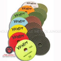 Venom FLEX Diamond Polishing pads 4 inch WET