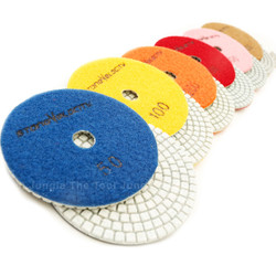 8 Piece Set  -4 inch Standard Stone Velocity Pads with Backer