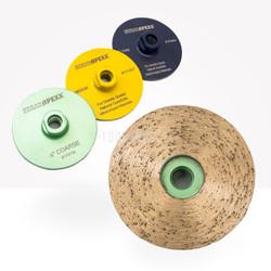 "4"" Continuous Rim Cup Wheel Ocean Diamond  Apexx- 3 grits"