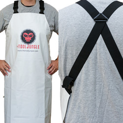 Heavy Duty PVC Shop Apron with Comfort Shoulder Straps