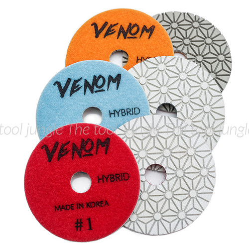 Venom Hybrid  Individual pads Diamond Polishing Pads (4 inch)