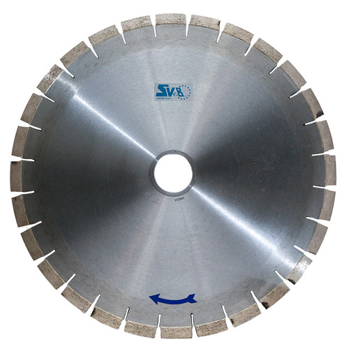 16' Full segmant SVEB -BONE CRUSHER- Bridgesaw Blade for Quartz and Granite