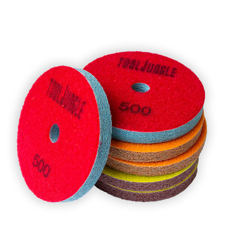 "4"" Tool Jungle -Fat Boy Sponge Pads for Surface Polishing for Quartz and Marble"
