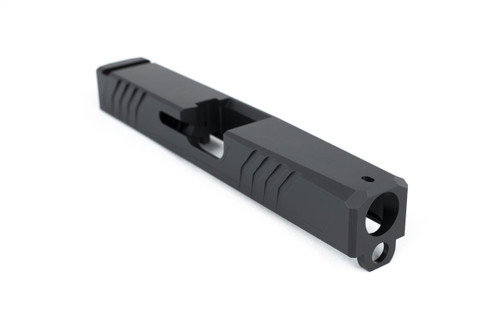 G17 Glock Standard Stripped Slide - GEN3 Compatible - 17-4 Stainless Steel, Black Nitride