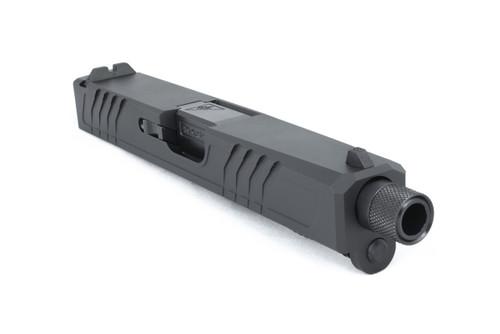 G19 Glock Slide Assembly Threaded & Engraved Barrel