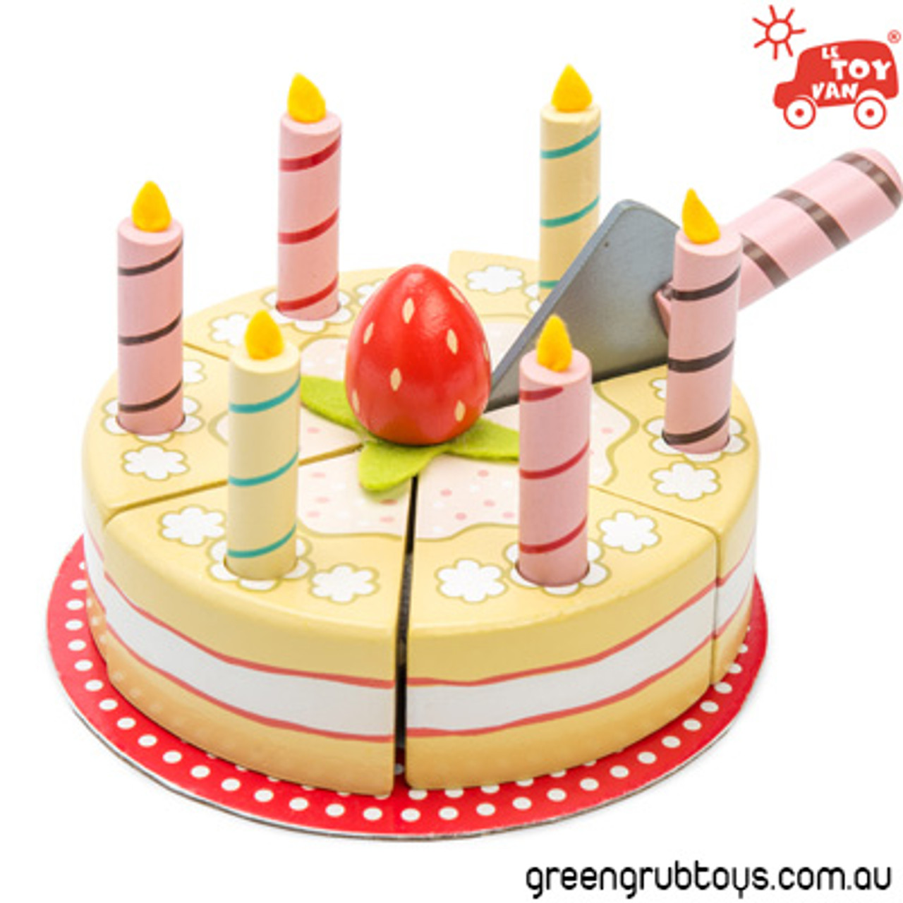 Awesome Le Toy Van Birthday Cake Wooden Toy Food Greengrub Wooden Toys Personalised Birthday Cards Beptaeletsinfo