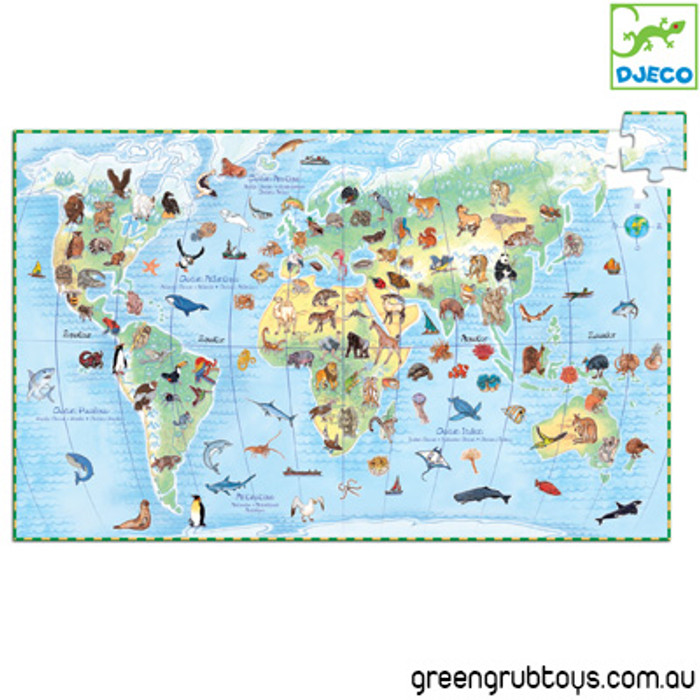 Djeco Animals of the World Jigsaw Puzzle - greengrub Wooden Toys ...