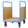 Long Goods Platform Truck with Timber sides (Narrow) - 500kg Capacity