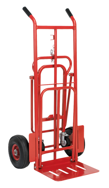 3 in 1 Pneumatic Wheel Sack Truck - 250kg Capacity
