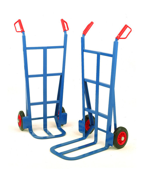 Heavy Duty Splay-back sack truck with Solid Wheels - 200kg Capacity