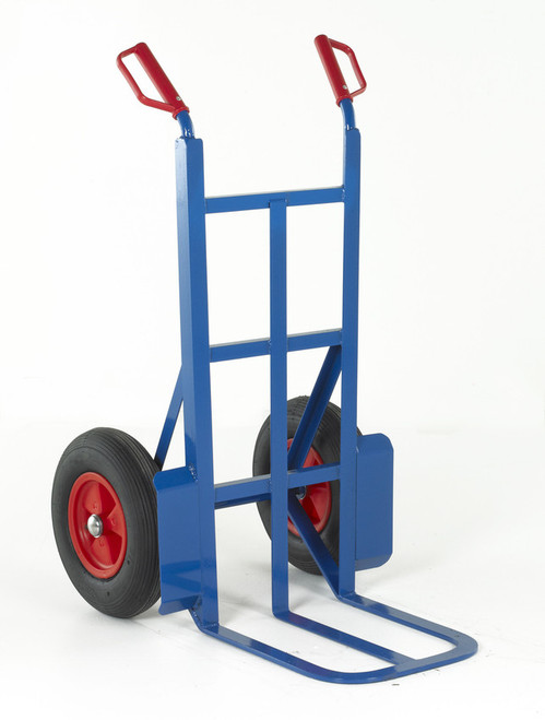 Rough Terrain Pneumatic Wheel Sack Truck with Large Toe - 350kg Capacity