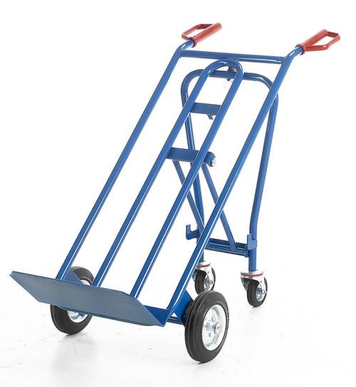 Heavy Duty 3 in 1 Solid Wheel Sack Truck - 250kg Capacity
