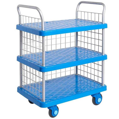 Proplaz Super Silent Three Tier Trolley with Mesh Side & Ends