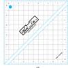 """Half Square Triangle Ruler  (6.5"""")"""