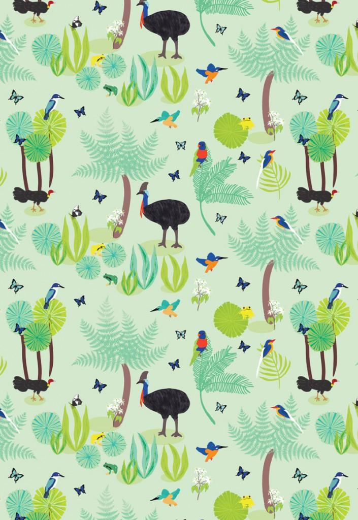 Wild Australia - The Daintree (Light Green)
