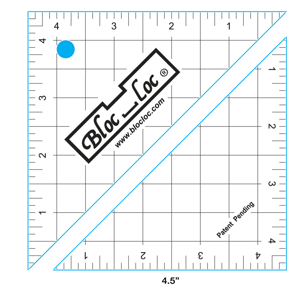 "Half Square Triangle Ruler  (4.5"")"