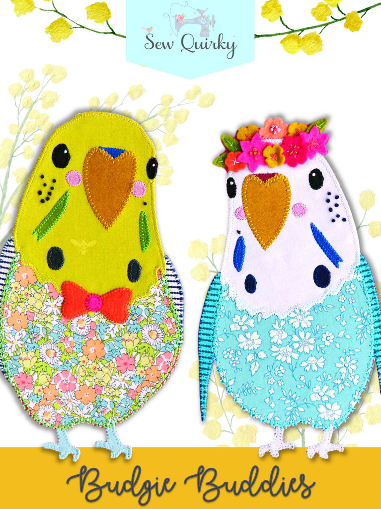 Budgie Buddies - Applique Pattern