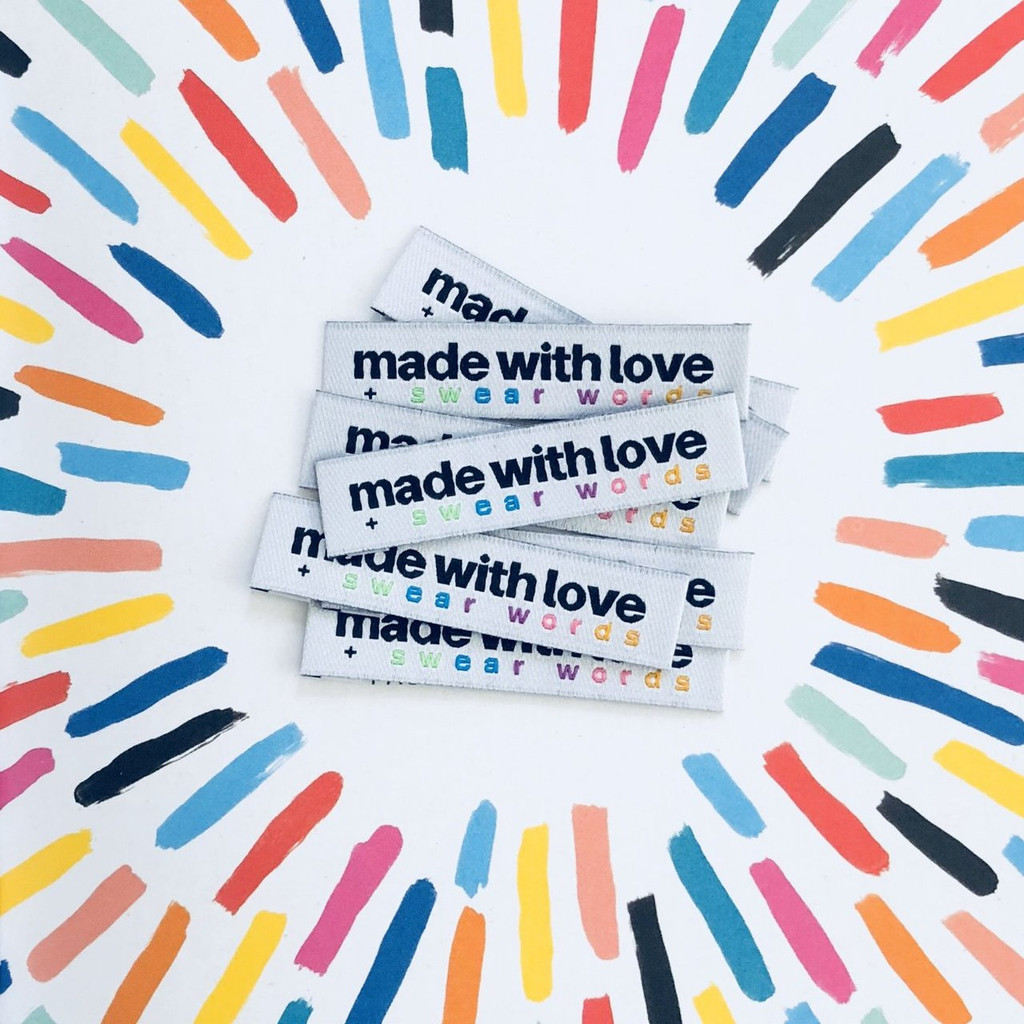 Woven Label - Made With Love & Swear Words