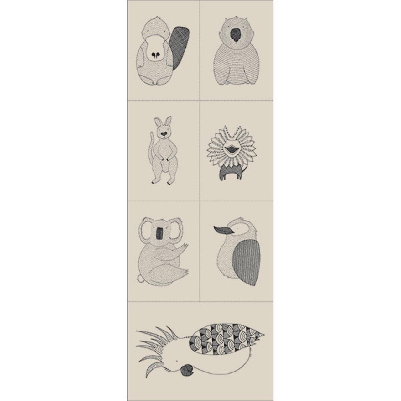 Australian Animals - Panel (7 Animals)