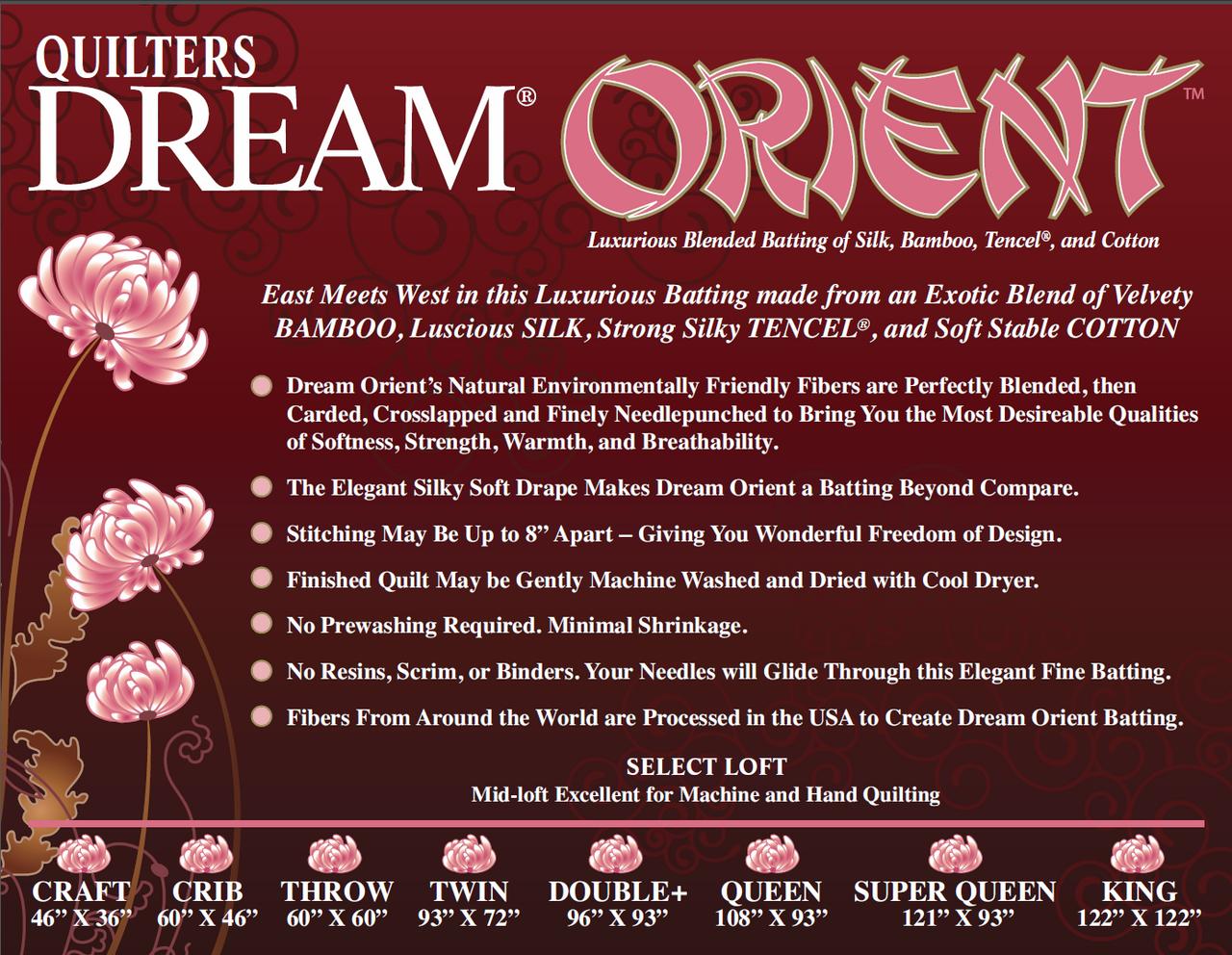 Quilters Dream Cotton -  Orient Blend (Double)