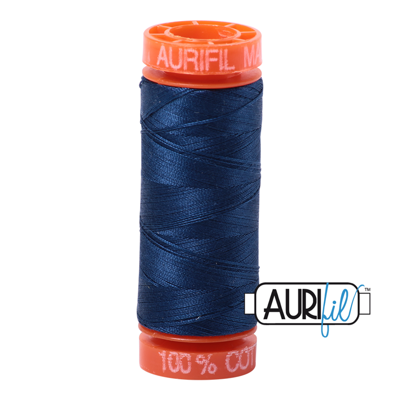 Aurifil Thread 2783 MEDIUM DELFT BLUE Cotton Mako 50wt Large Spool 1300m