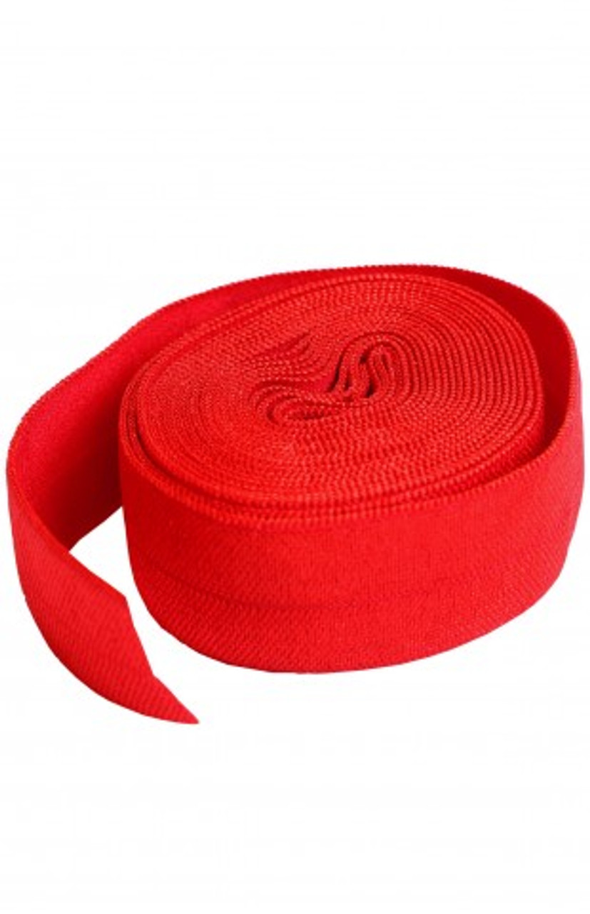 "Elastic -  Atomic Red (3/4"" x 2 yards)"