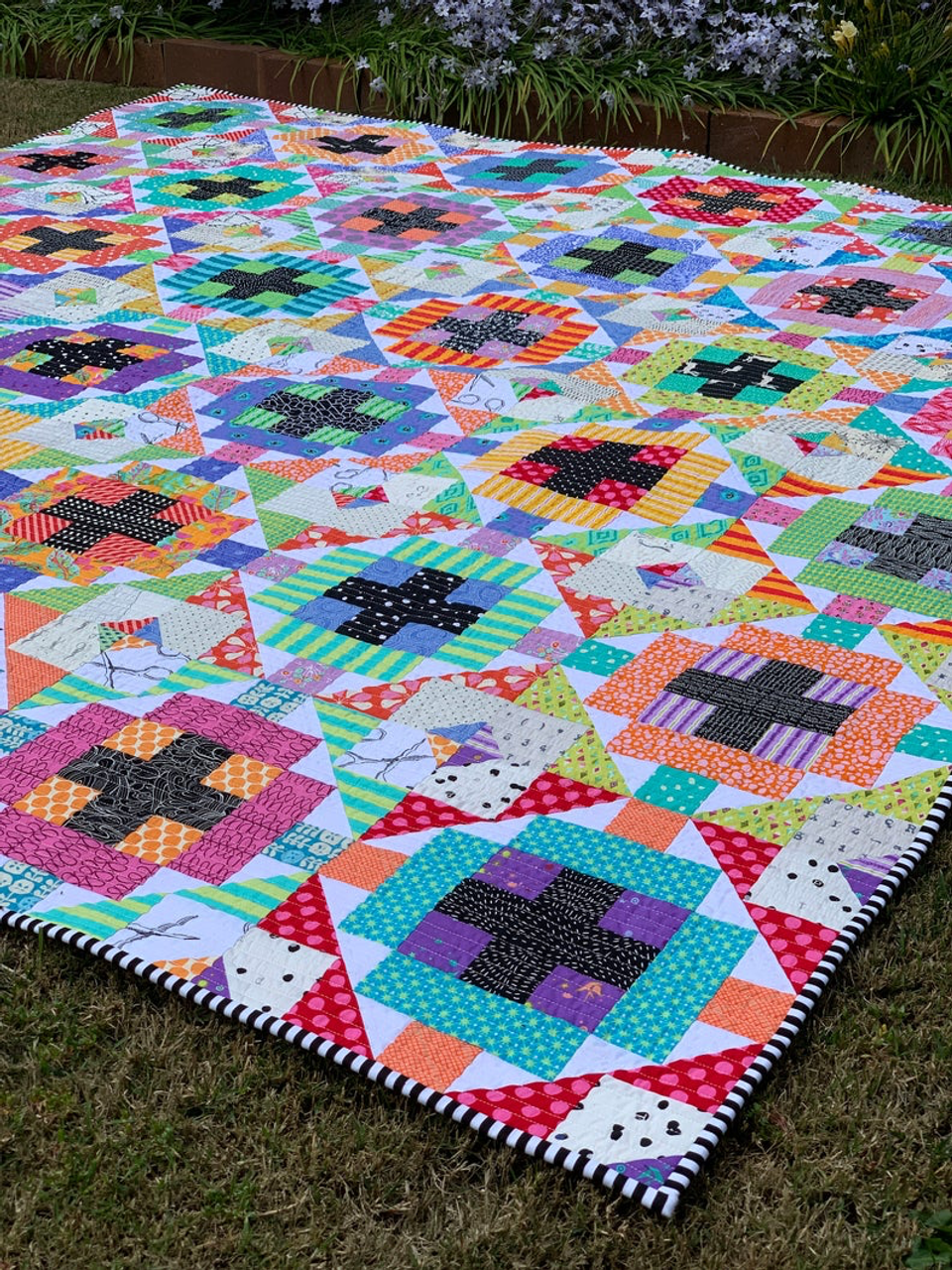 Cross Current Quilt Pattern (Scrappy Version)