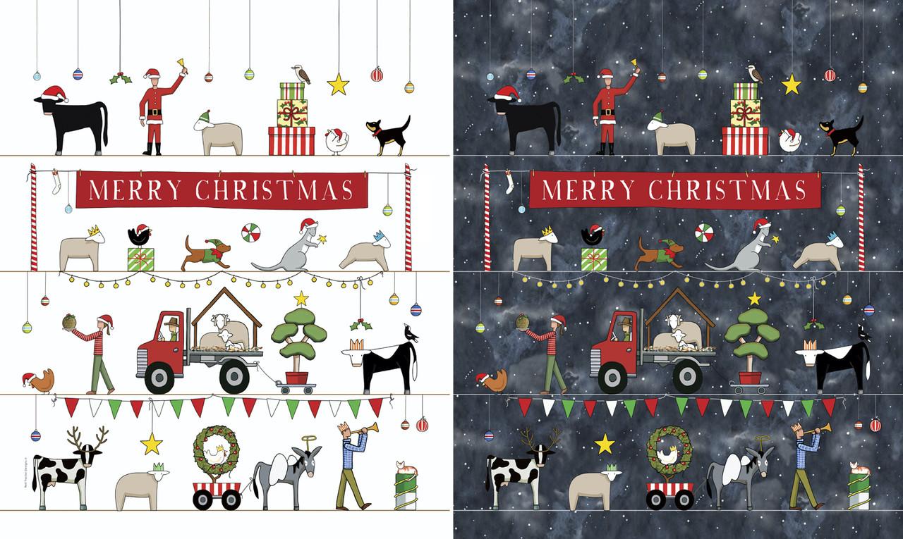Christmas In Australia - Santa Sack Panel
