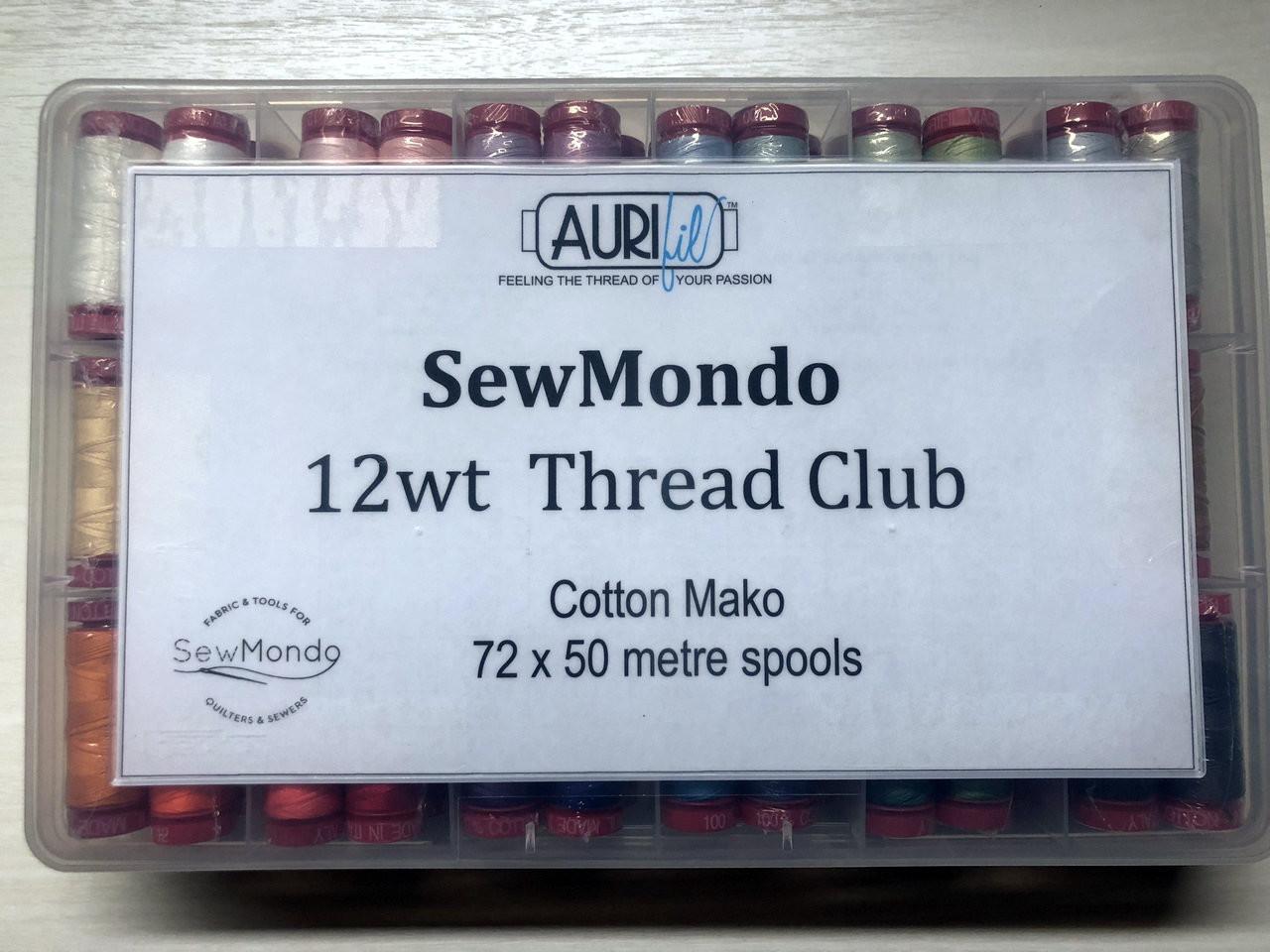 Aurifil 12wt Thread Club (First Month)