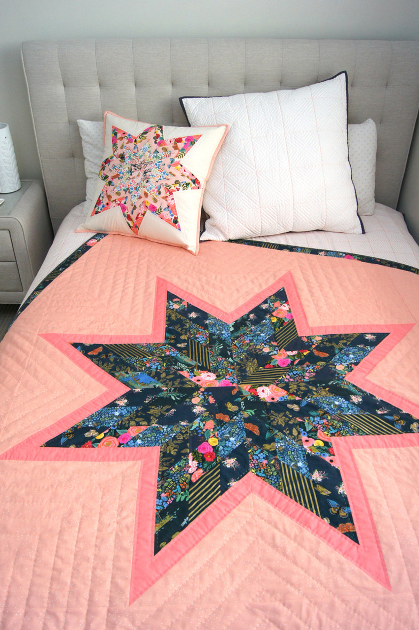 Twisted Lone Star Quilt & Cushion Kit