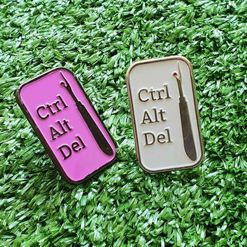 Enamel Pin - Crt Alt Del (Purple)